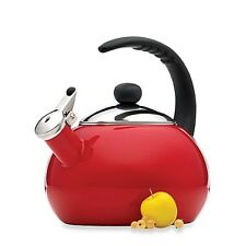 Premium Carbon Steel Red Porcelain Enamel 2.5 Qt Tea Kettle Tea Pot Kitchenware