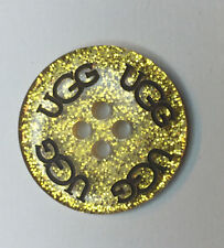 Ugg Gold Glitter Metalic Replacement Button Bailey Bow Boots Shoes Parts Sparkle