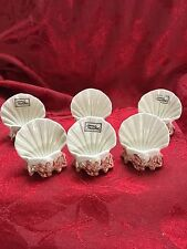 FLAWLESS Stunning FITZ FLOYD Ceramic CORAL SHELL Business Hostess CARD HOLDER