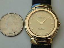 GENUINE ROLEX SOLID 18K GOLD 32MM MEN'S 6622 CELLINI CELLISSIMA GOLD ARABIC DIAL