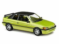 Busch 45708 Ford Escort Cabrio, geschlossen grünmetallic 1:87 Neu