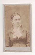 Vintage CDV Unknown lady  Very Severe looking