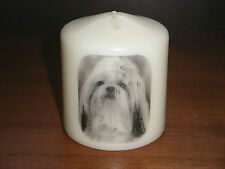 Candle Picture of Shih Tzu Dog #2 Can be Personalised Birthday Gift Memorial New