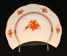 4 Herend Hungary Chinese Bouquet Rust Small Crescent Salad Plate / Bone Dish 530