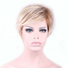 New High Quality Cool Women Blonde Heat Resistant Short Wigs for Fake HairFemale