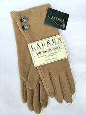 LAUREN BY RALPH LAUREN CAMEL/BEIGE FINGERTIP TOUCH TECHNOLOGY GLOVES BNWT SIZE M