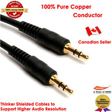 Yellowknife Gold-Plated 3.5mm Aux 3-Feet Slim Stereo Audio Cable-M/M (3.5mm)