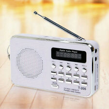 Mini Digital FM Radio Speaker USB Micro SD TF Mp3 Music Player red color
