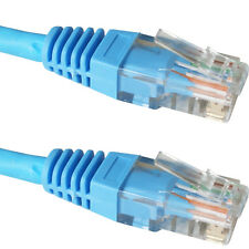 20m CAT6 Patch Ethernet RJ45 Cable/Lead -Blue- Pure Copper LSZH Network UTP LAN