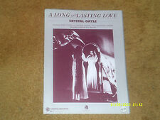 Crystal Gayle sheet music A Long and Lasting Love 1985 5 pp (NM shape)