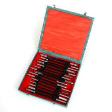Boxed 15Pcs Mixed Shape Steel Stone Carving Sculpting Kit Knives Chisels Set