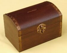 "Great fun ""Real"" wooden treasure chest money box"
