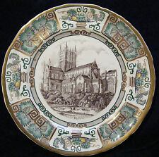 """Masons Ironstone 10"""" Cathedral Christmas Plate: 1984 Wells"""