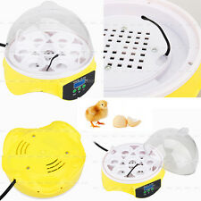 7 Eggs Digital Clear Egg Incubator Hatcher Turning Temperature Control Duck Bird