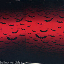 Vampire Bite Blood Halloween Party Scene Setter Room Roll - RED SKY BATS
