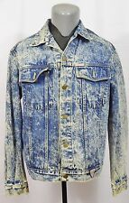 VTG Guess Denim Jacket Acid Wash 80's Made in USA Jean Punk Rock Rap Metal Large