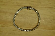 "7.25"" GOLD PLATED CUBIC ZIRCONIA TENNIS BRACELET 4.7mm #X18774"