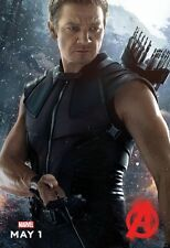 "Avengers movie poster Age Of Ultron (h) 11"" x 17"" Hawkeye poster Jeremy Renner"