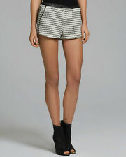 DOLCE VITA CADHIA-1 Black White Joan Tweed Textured Casual Shorts Sz M $154 NWT