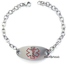 "Medical Alert ID Bracelet for COUMADIN with 9"" Chain Stainless Steel"