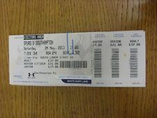 04/05/2013 BIGLIETTO: Tottenham hotpsur V Southampton (piegato, completa). grazie F