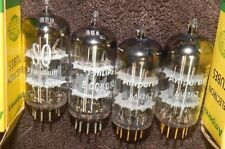 RARE 4 TUBES ECC801S GOLD M8162 FOIL D GETTER TUBES 12AT7 ECC81 AMPEREX PHILIPS