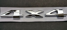 2x 4X4 Chrome 3D Emblem Badge Sticker Decal Metal JEEP Ford Dodge Ram CHEVY GM