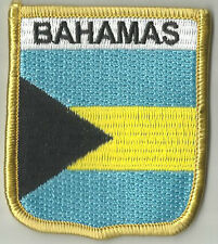BAHAMAS IN ATLANTIC OCEAN FLAG EMBROIDERED PATCH BADGE