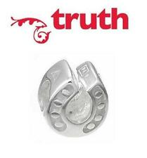 Genuine TRUTH PK 925 sterling silver horseshoe charm bead, wishes & good luck