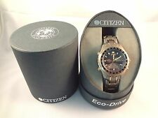 * VINTAGE Citizen Eco-Drive Titanium Solar-Tech World Timer Mens Watch - NEW! *