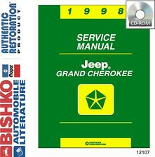 1998 Jeep Grand Cherokee Shop Service Repair Manual DVD Engine Drivetrain Wiring