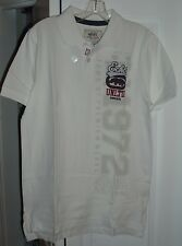 NWT mens ECKO UNLIMITED white RUGBY POLO short sleeved SHIRT size SMALL (s)