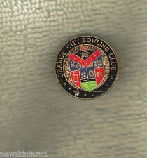 ORANGE CITY   BOWLING CLUB LAPEL BADGE, COAT OF ARMS DESIGN