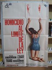 A302         HOMICIDIO AL LIMITE DE LA LEY - AÑO 1972 - ELGA ANDERSEN