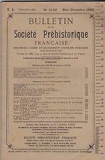 BULLETIN DE LA SOCIETE PREHISTORIQUE FRANCAISE  NOVEMVRE DECEMBRE  1953  11-12