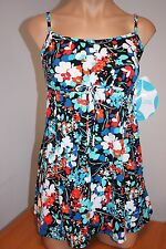 New Swim Solutions Swimsuit 1 one piece Size 12 Attached Dress Pet Gardn MLT