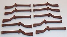 Lego Flintlock Muskets x 10 Reddish Brown for Imperial Soldier Minifigures