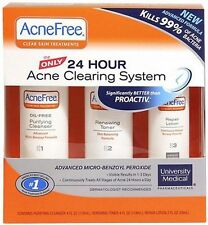 AcneFree 24 Hour Acne Clearing System Kit EXP.05/17 New. Cheapest On eBay!