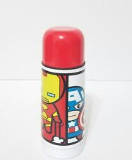 DISNEY STORE KID MZYX MARVEL THERMOS MUG IRON MAN SPIDER MAN CAPTAIN AMERICA