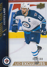15-16 Upper Deck EXCLUSIVES xx/100 Made! Andrew LADD #443 - Jets