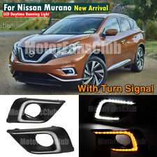 LED Daytime Running Light For Nissan Murano Fog Lamp DRL 2015 2016 Turn Signal