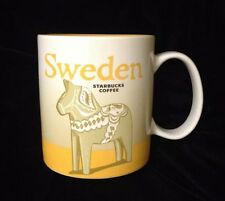 Starbucks Sweden Mug Sverige Dalecarlian Horse Icon Dale Pony Yellow New US Ship