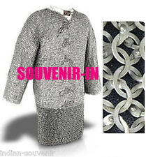 Aluminum Flat Riveted Chainmail shirt X LARGE FULL SLEEVE 10MM Anodised