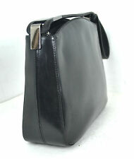 RUSSELL BROMLEY BLACK GENUINE LEATHER EVENING BAG HOBO SHOULDER MADE IN ITALY