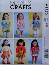"**SALE** McCall's 6370 Sewing PATTERN for 18"" American Girl DOLL CLOTHES U/C OOP"