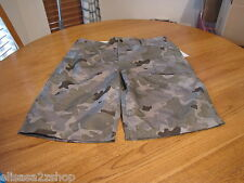 Men's 34 casual board swim shorts walk Zoo York surplus camo camouflage surf sk8