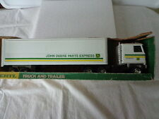 ERTL JOHN DEERE PARTS EXPRESS  CAB OVER TRACTOR TRAILER PRESSED STEEL TITAN CAB