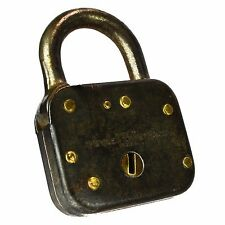 YALE Padlock Brass Old Vintage Small 1484 50 Pad Lock (no key)