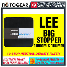 "LEE Filters Big Stopper 100 x 100mm 4x4"" 10 Stop Neutral Density Filter EXPRESS"