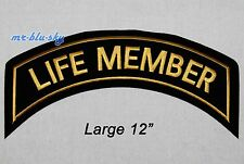 Large Life Member Gold Patch ~ Harley Davidson Owners Group HOG  H.O.G.